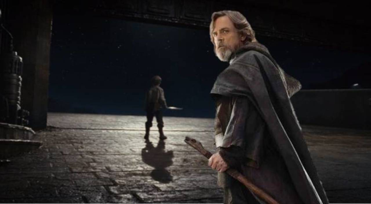Last Jedi, boy with a broom