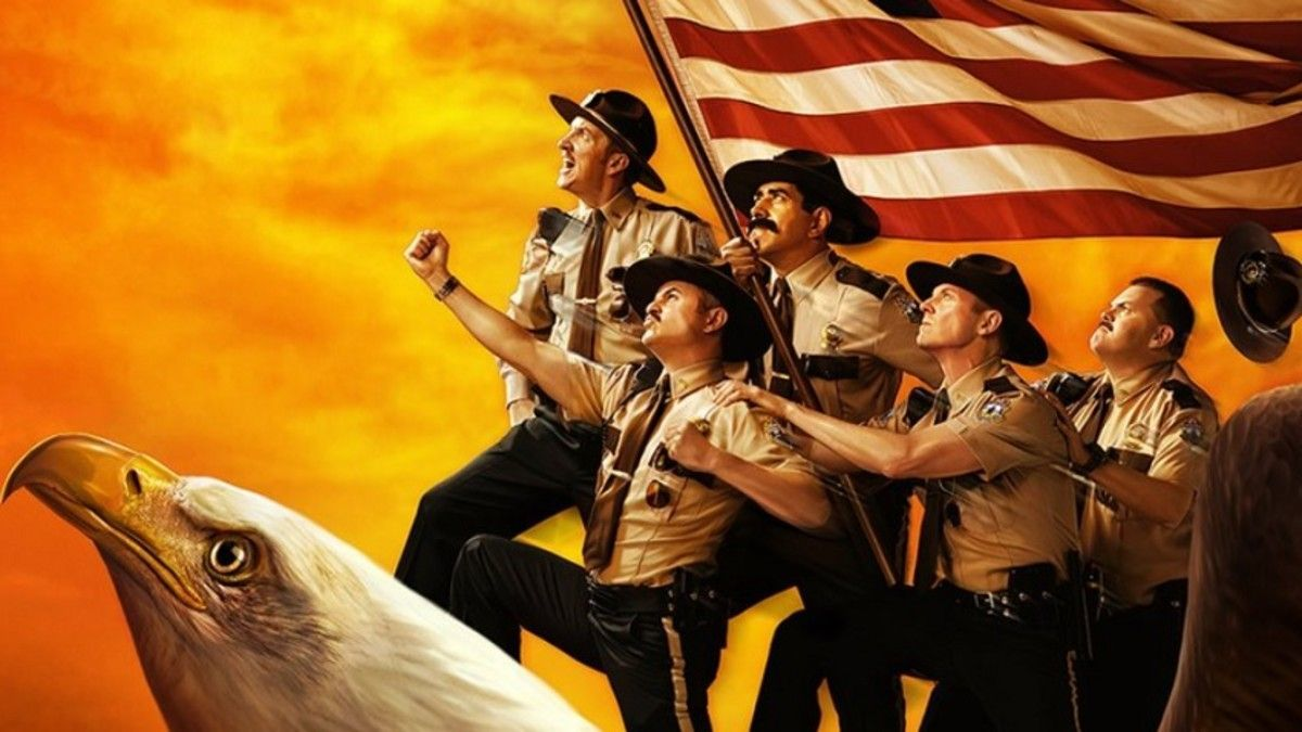 """Super Troopers 2 """"title ="""" Super Troopers 2 """"height ="""" 506 """"width ="""" 900 """"daten-item ="""" 1103837 """"/> </figure> <p><strong>  Opening Weekend <br /></strong><strong>  Friday: </strong> $ 7.7 million <br /><strong>  Weekend: </strong> $ 14.8 million </p> <p>  Fired <g class="""