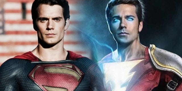 superman shazam zachary levi henry cavill