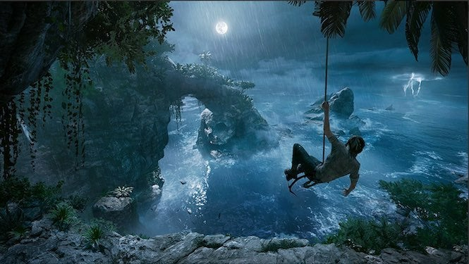 "Tomb Raider 4 ""title ="" Tomb Raider 4 ""height ="" 375 ""width ="" 665 ""daten-item ="" 1105214 ""/> </figure> <p>  Here Lara hangs on a rope as she is part of an island Considered afar off, the very well filled up could be dangerous enemies and / or traps, fortunately she's just the woman for the job when it comes to getting through in one piece. How beautiful that'll look like once Crystal Dynamics gets in there 4K Run </p> <p><svg role="