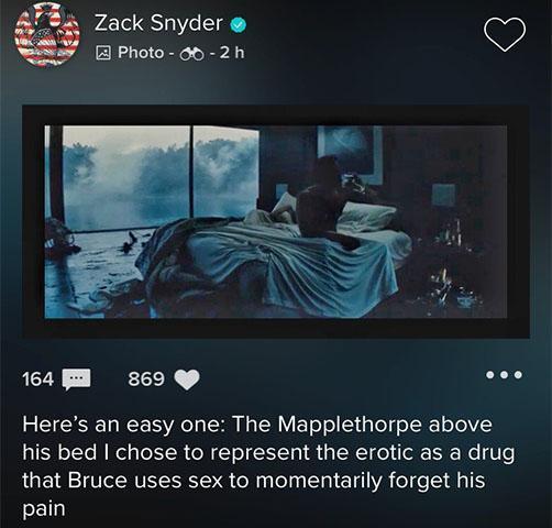 zack snyder bruce wayne sex as drug