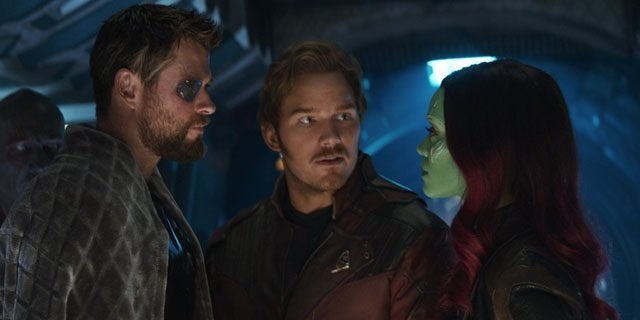 avengers infinity war star-lord gamora