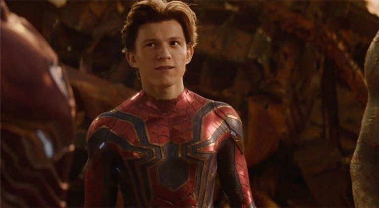 avengers infinity war tom holland emotional