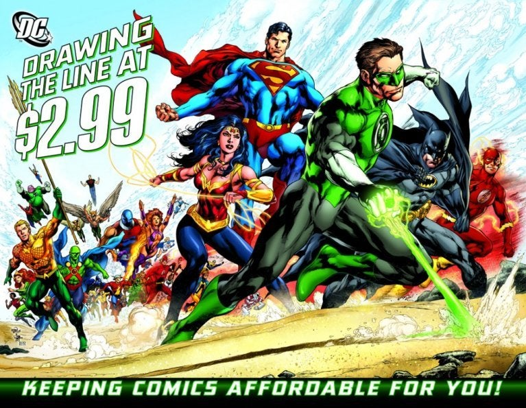 DC Comics Draw the Line 299