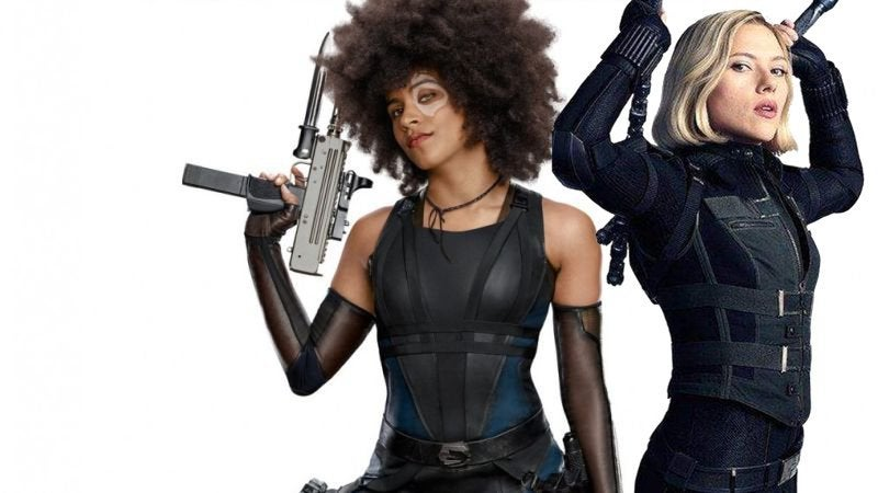 Deadpool 2 Black Widow Domino Joke