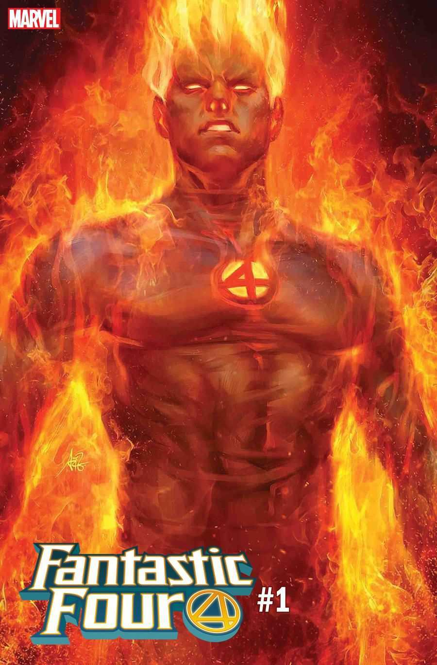 Fantastic Four Human Torch Artgerm