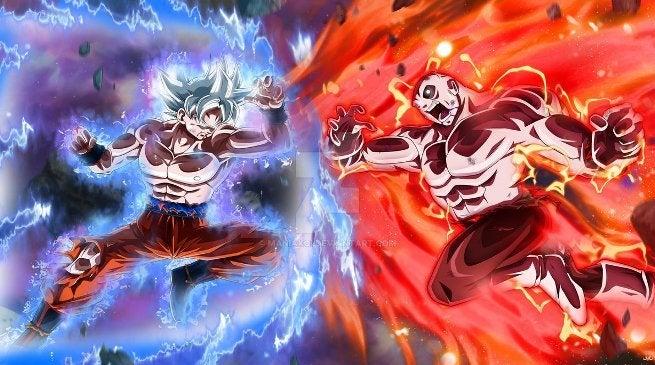 Goku Full Ultra Instinct vs Jiren_by_maniaxoi DeviantART