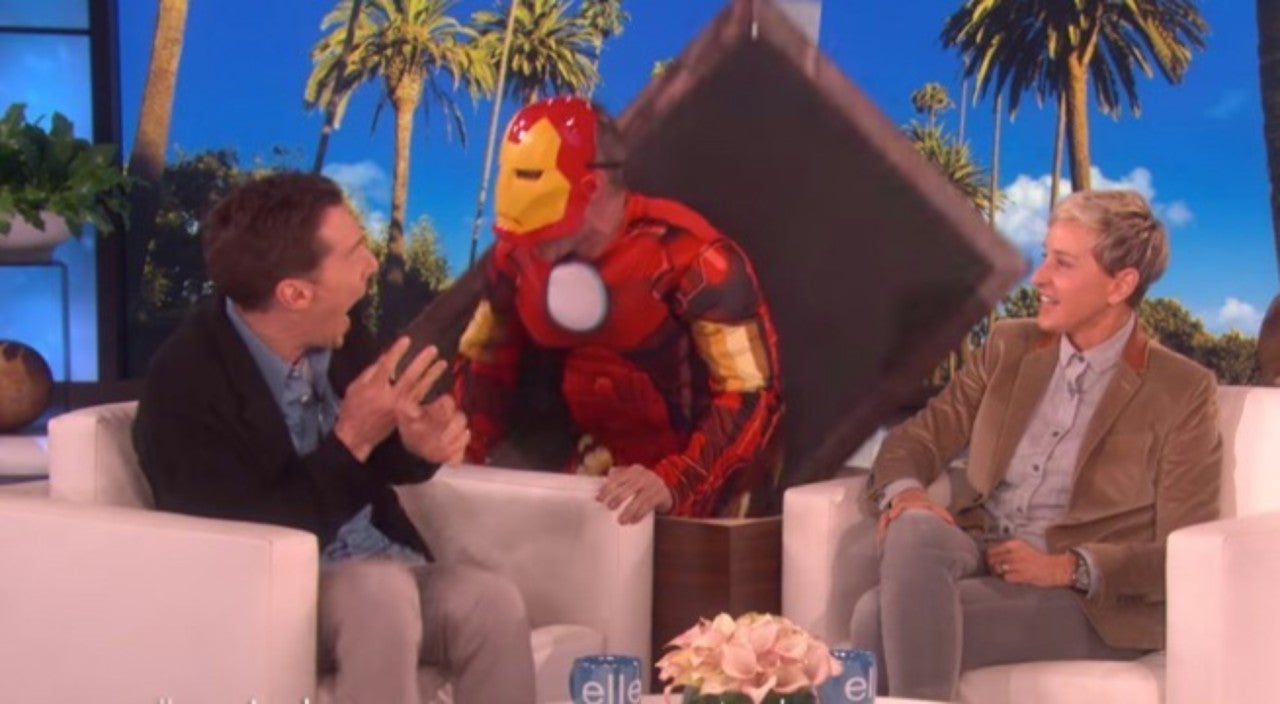 Watch Iron Man Scare Benedict Cumberbatch On 'Ellen'