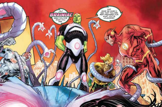 Justice League No Justice #1 Review - Brainiac