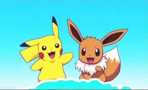 pikachu and eevee