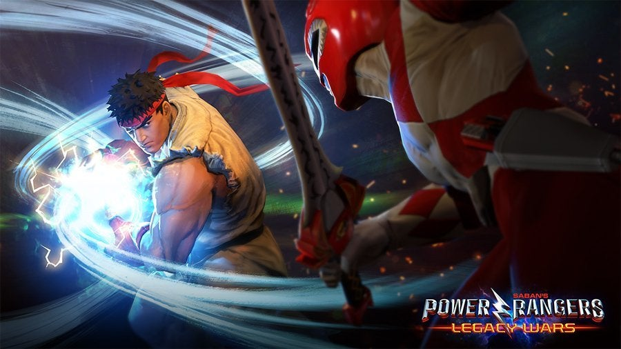 Power-Rangers-Street-Fighter-Ryu vs Red