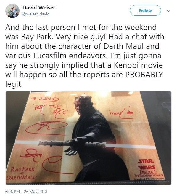 ray park obi-wan kenobi movie
