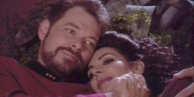 Riker and Troi