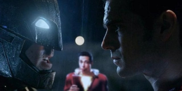 Shazam Batman v Superman Viral Image