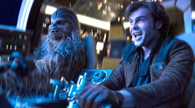 Solo Star Wars Story Millennium Falcon Chase Scene