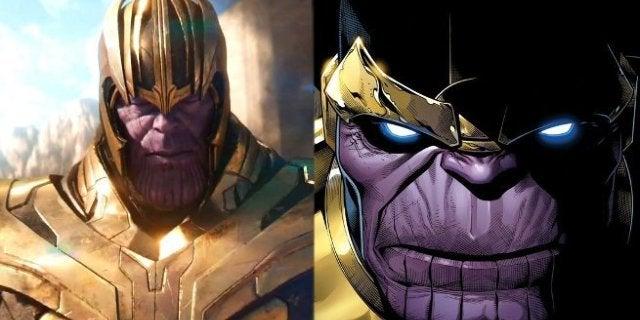 Thanos Costume Movie Comic Book Comparison