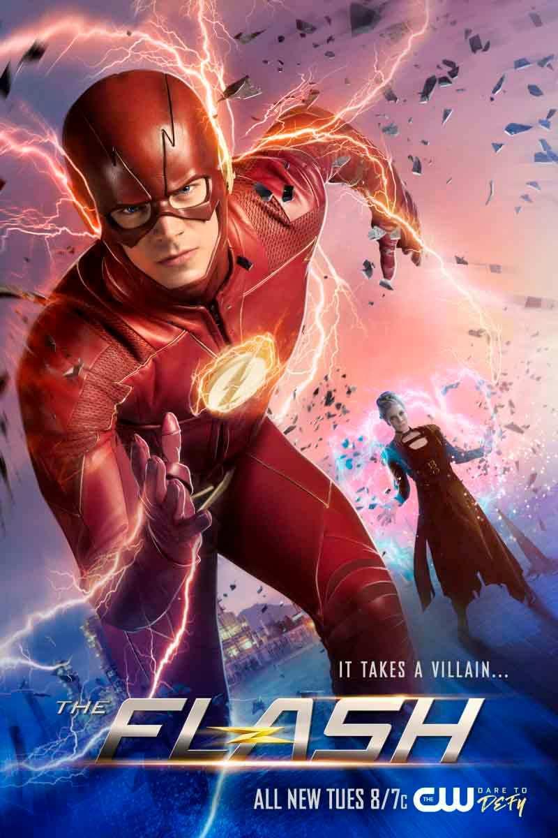 Super The Flash' Outruns Amunet Black in New Season 4 Poster QP-38
