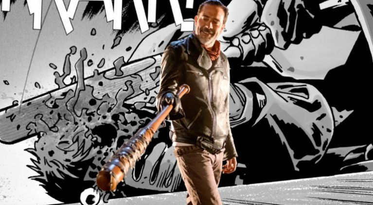 The Walking Dead Negan Jeffrey Dean Morgan comicbookcom