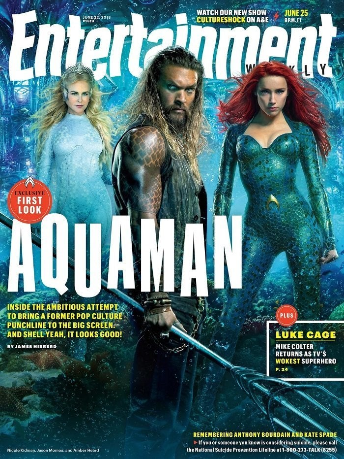 aquaman entertainment weekly cover jason momoa nicole kidman