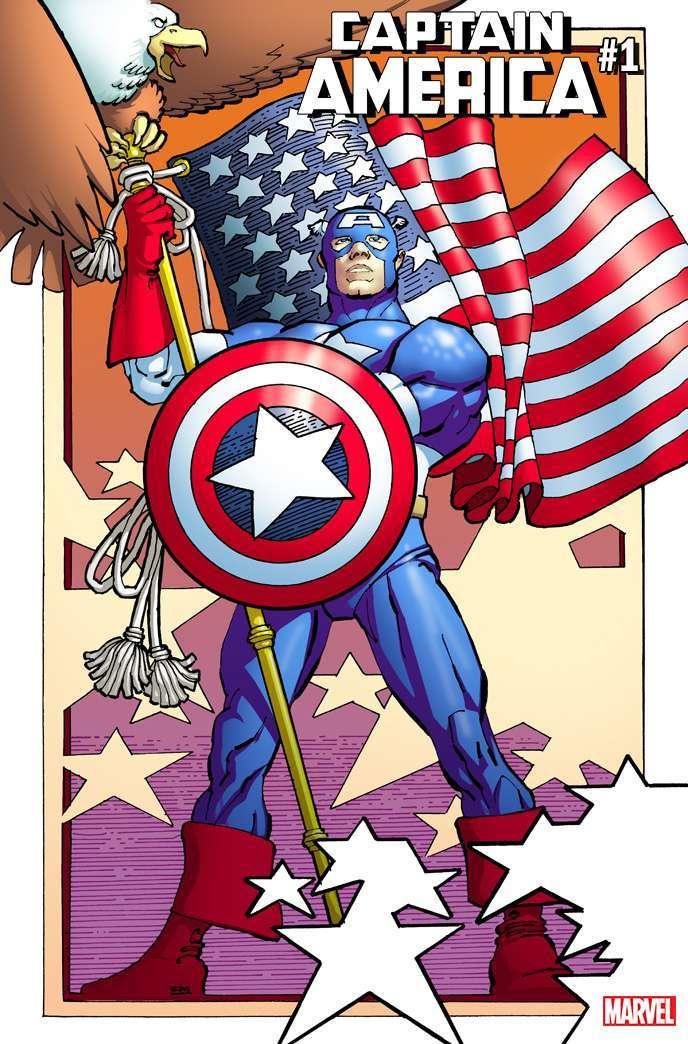 Captain America 1 Frank Miller Cover