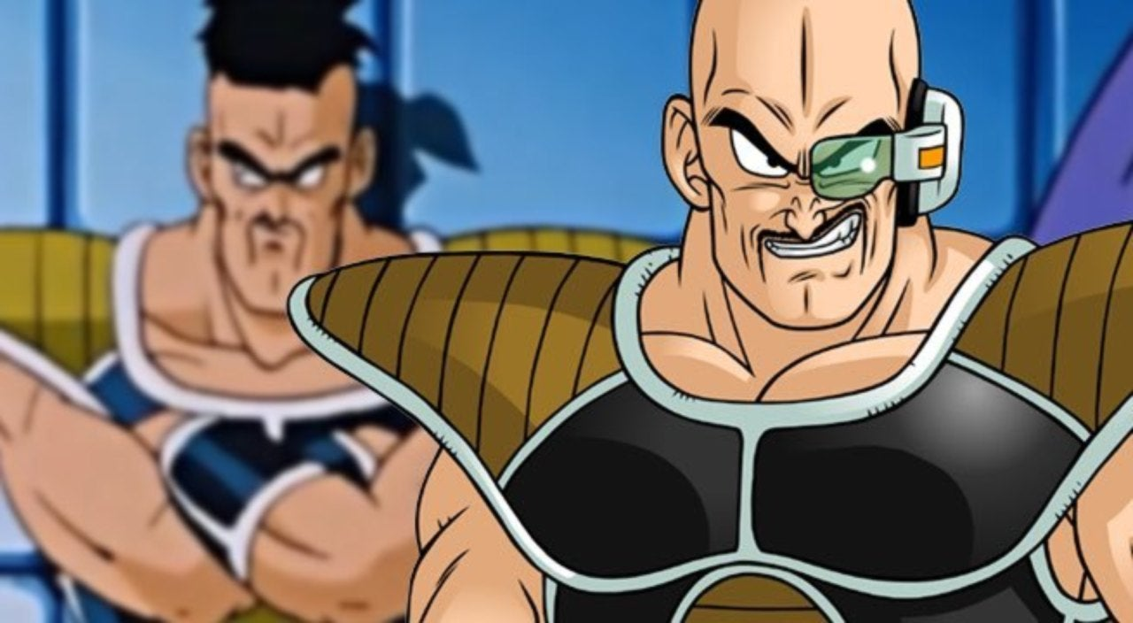 new dragon ball merchandise gives nappa all the hair