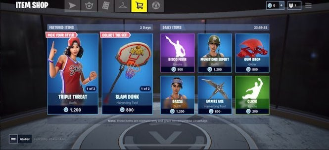 Fortnite Item Shop Updated With New Basketball Outfits
