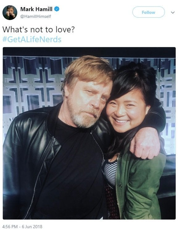 mark hamill kelly marie tran tweet