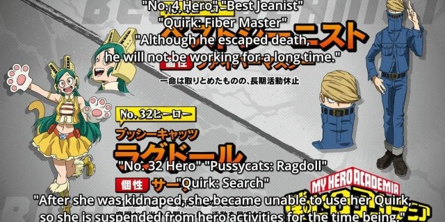My Hero Academia Ragdoll and Best Jeanist Injury Report Death
