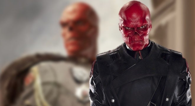 red skull concept art portrait