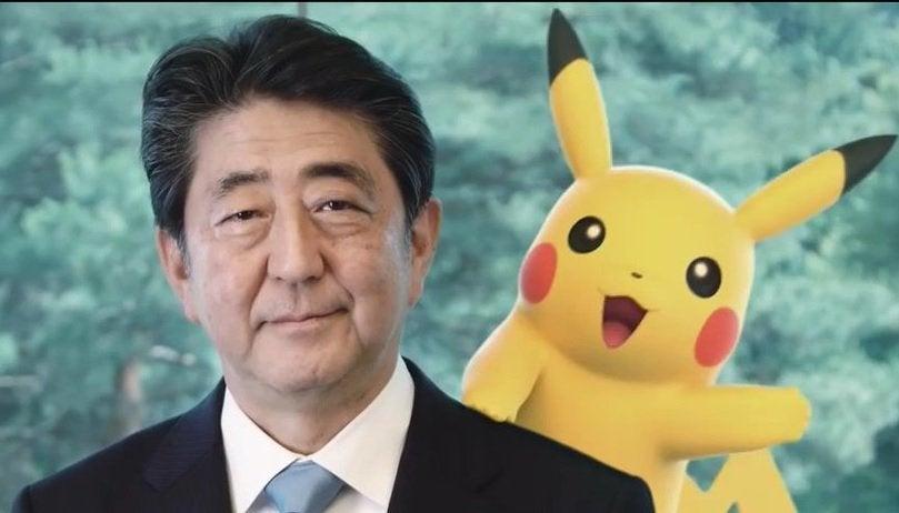 shinzo abe pikachu