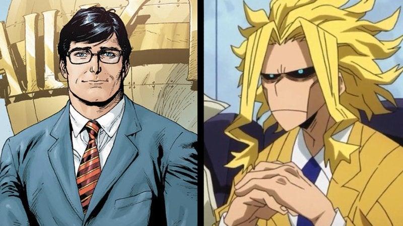 Superman vs All Might Clark Kent Toshinori Yagi