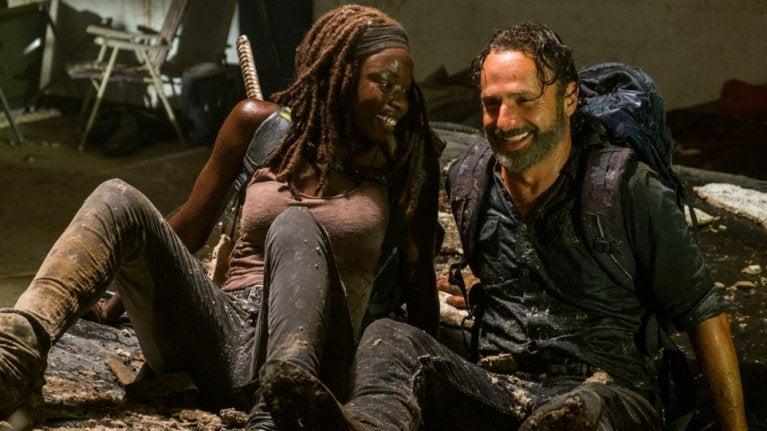 The Walking Dead Michonne Rick
