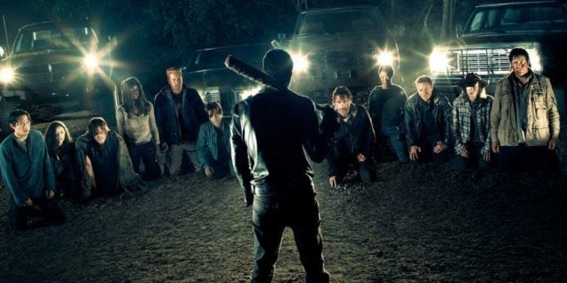 The Walking Dead Negan line up