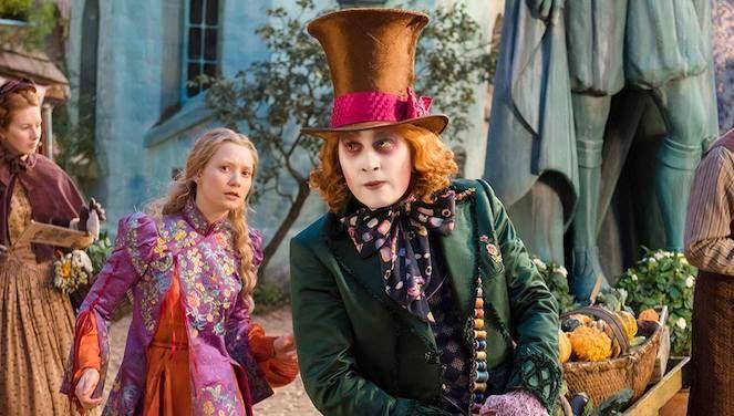 alice-in-wonderland-through-the-looking-glass-johnny-depp-Mia-Wasikowska-mad-hatter-Disney