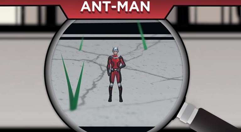 ant man marvel height video