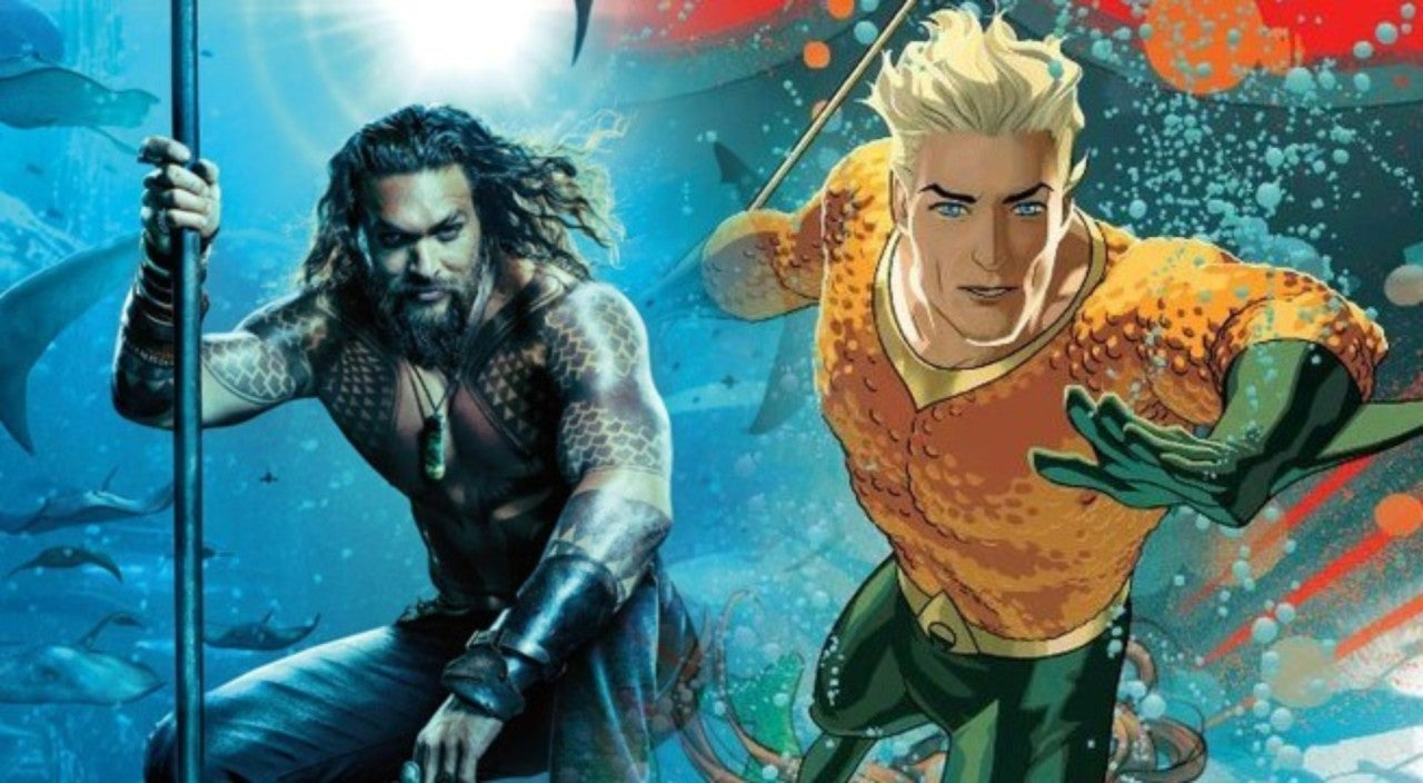 Aquaman First Official Look At Jason Momoas Classic Orange And Green Costume