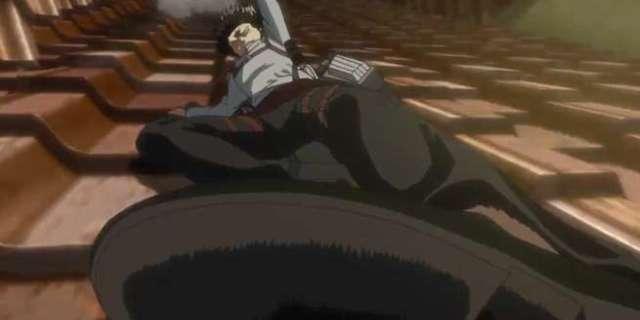 Attack on Titan Levi vs Kenny Interior Fight Sequence