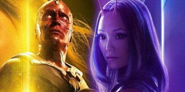 Avengers Infinity War Vision Mantis