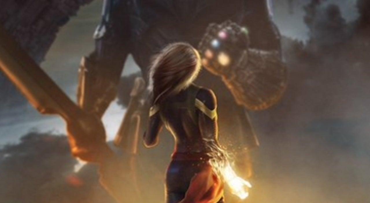 avengers 4' fan art imagines captain marvel taking on thanos