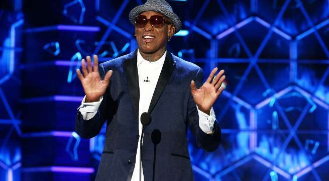 dennis rodman bruce willis roast getty