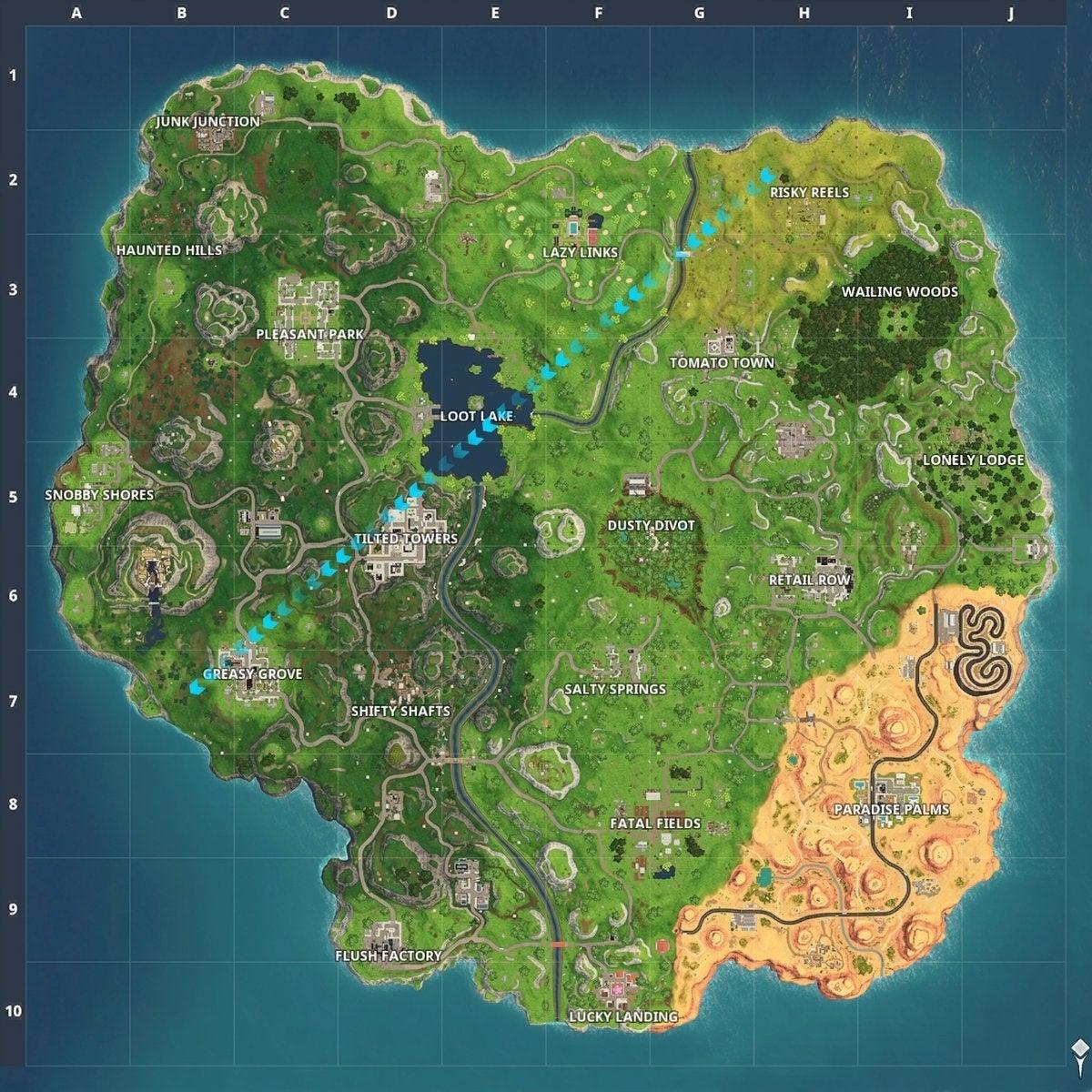 All Fortnite Season 5 Map Changes, New Desert Biome on