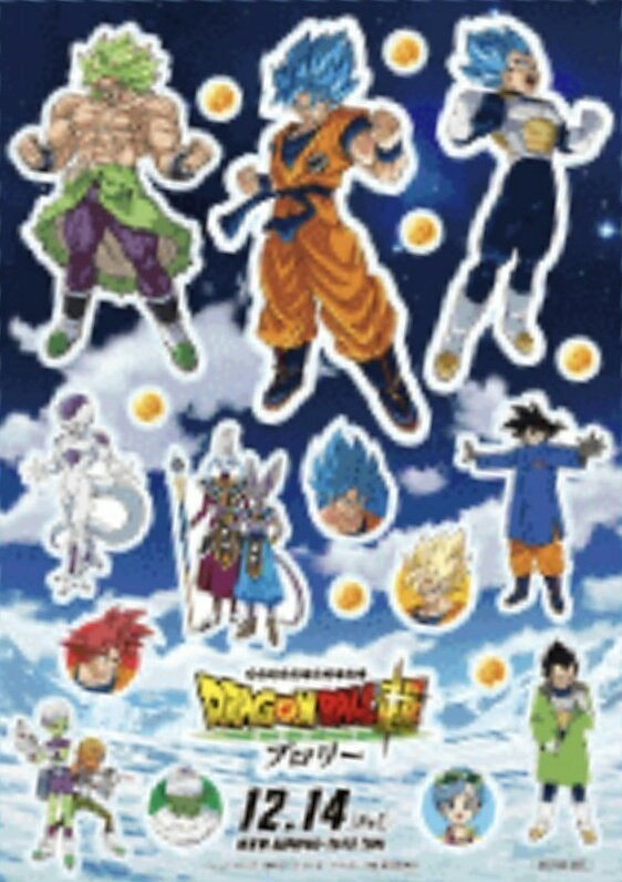Dragon Ball Super Broly Characters Poster