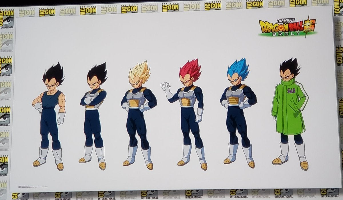 Dragon Ball Super Character Designs - Vegeta Super Saiyan God