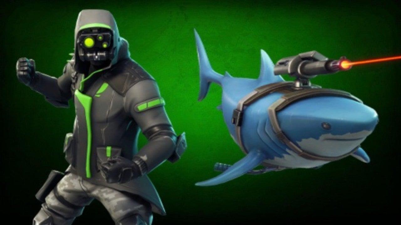 - fortnite laser shark glider