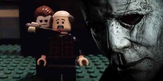 halloween sequel movie trailer lego