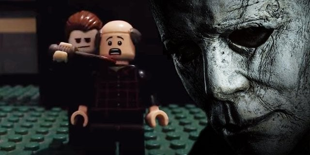 halloween sequel movie trailer lego