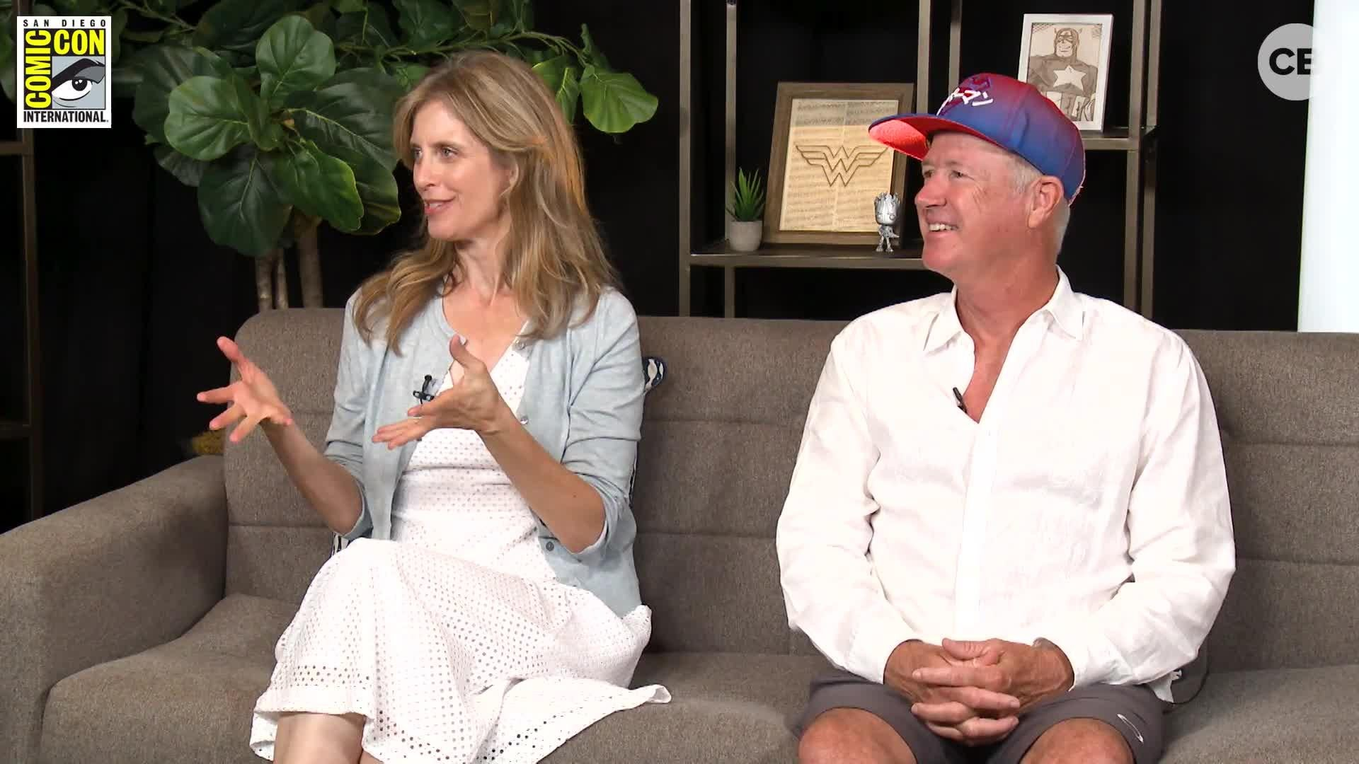 Helen Slater & Marc McClure (Supergirl 1984) - SDCC 2018 Exclusive Interview screen capture