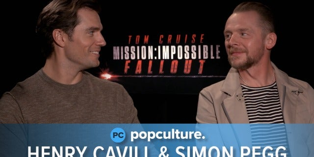 Henry Cavill and Simon Pegg - Mission: Impossible - Fallout Premiere Interview screen capture