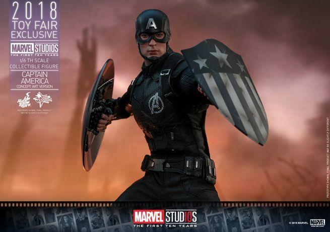 Hot Toys - Marvel Studios 10 - Captain America (Concept Art Version) collectible figure_PR20