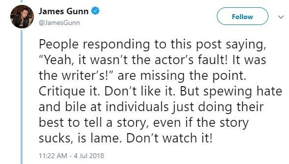 james gunn star wars trolls twitter